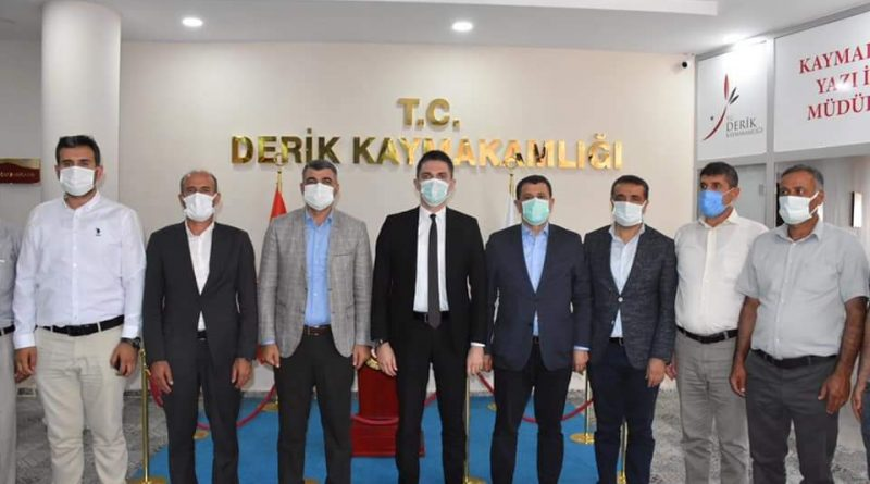 MARDİN AK PARTİ TEŞKİLATINDAN KAYMAKAM ÇAKIR'A ZİYARET