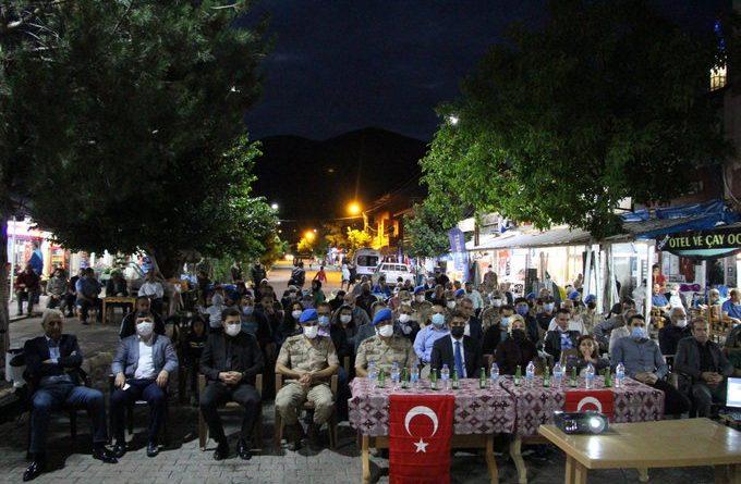 15 Temmuz Demokrasi ve Milli Birlik Günü  Anma etkinliği kapsamında tören düzenlendi