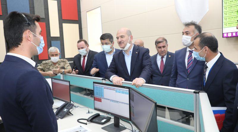 İçişleri Bakanımız Sayın Süleyman Soylu, Bitlis 112 Acil Çağrı Merkezini Ziyaret Etti